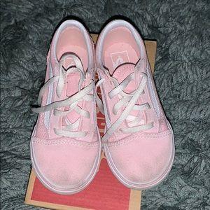 Toddler Girls Pink Classic Old School Vans. Size 9